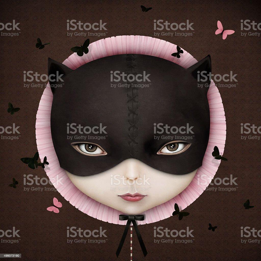 Cat vector art illustration