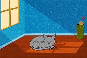 Cat In A Sunbeam