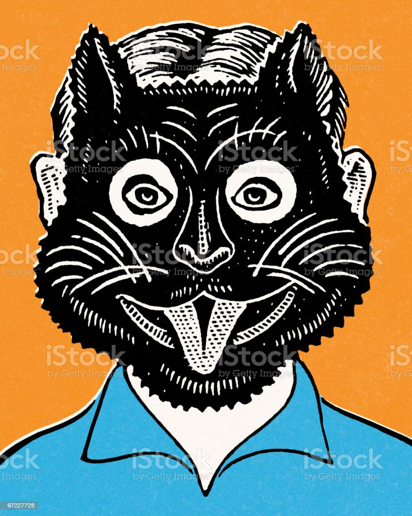 Cat mask royalty-free stock vector art