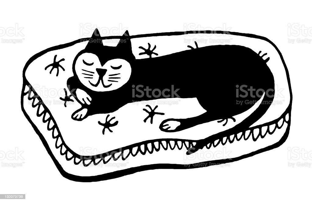 Cat Napping royalty-free stock vector art