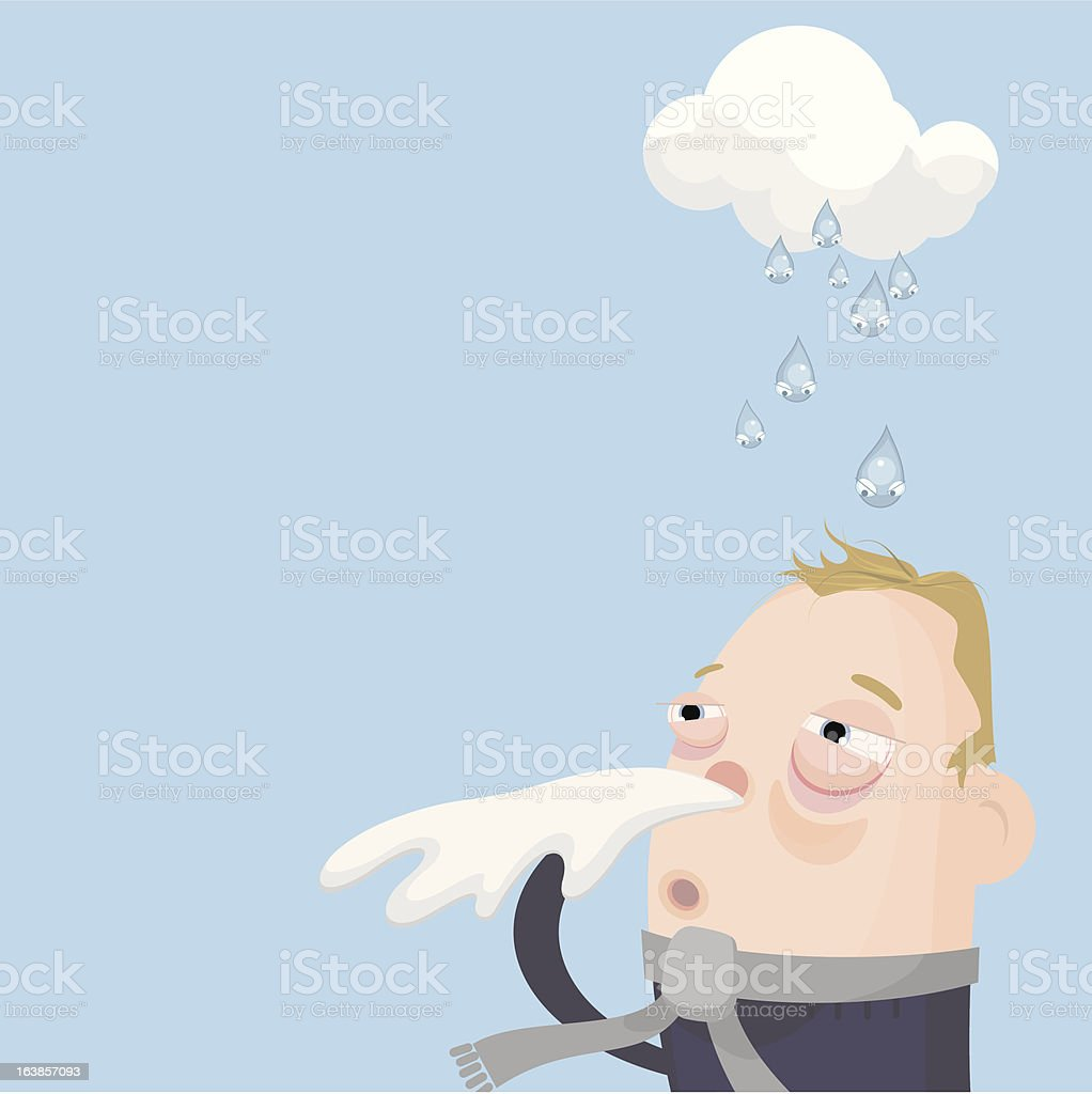 catching a cold royalty-free stock vector art