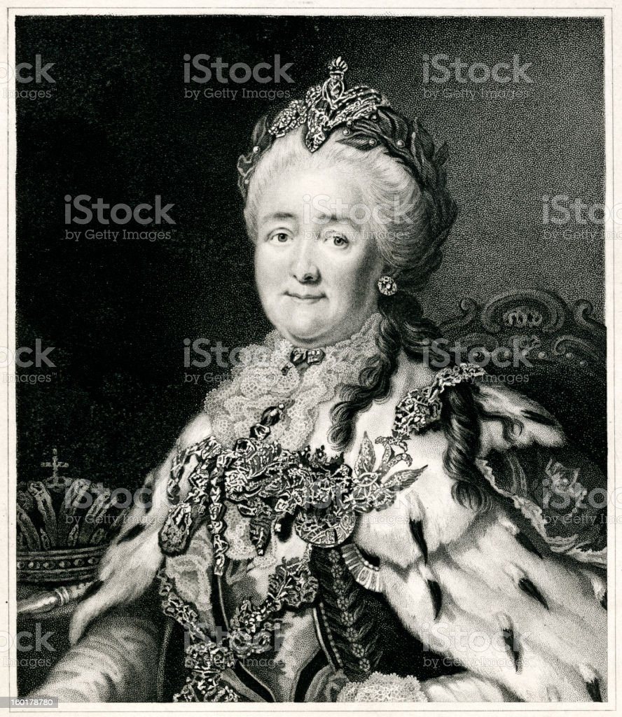 Catherine The Great royalty-free stock vector art