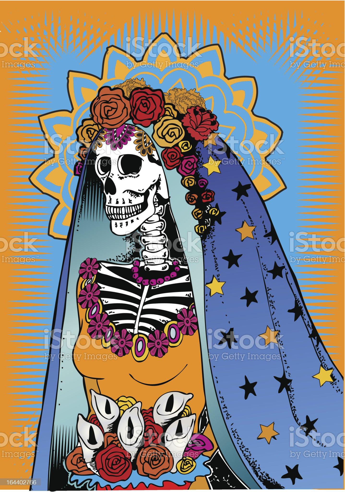 Catrina from Day of the Dead celebration. royalty-free stock vector art