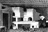 Caucasian house indoor