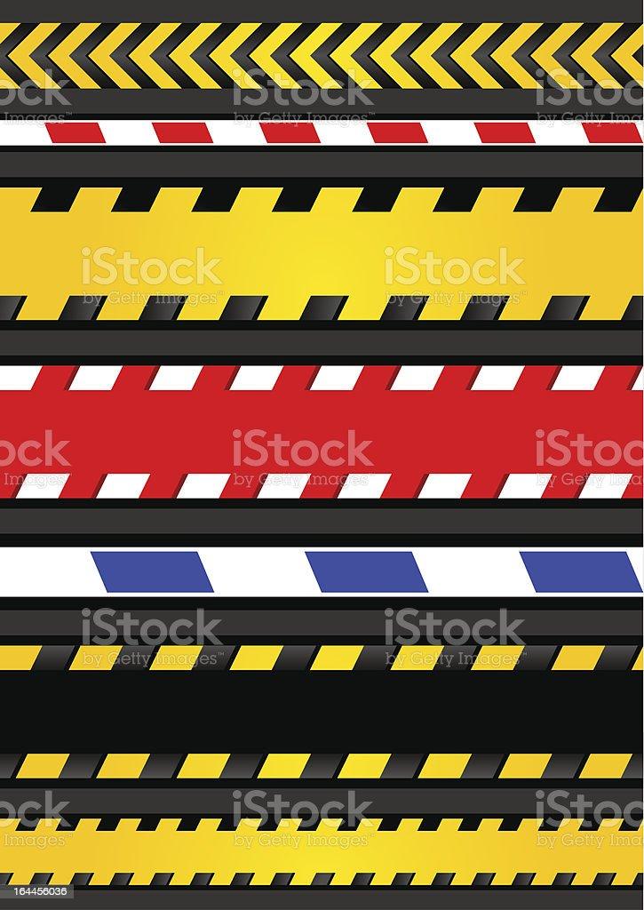 Caution tapes, seamless strip royalty-free stock vector art