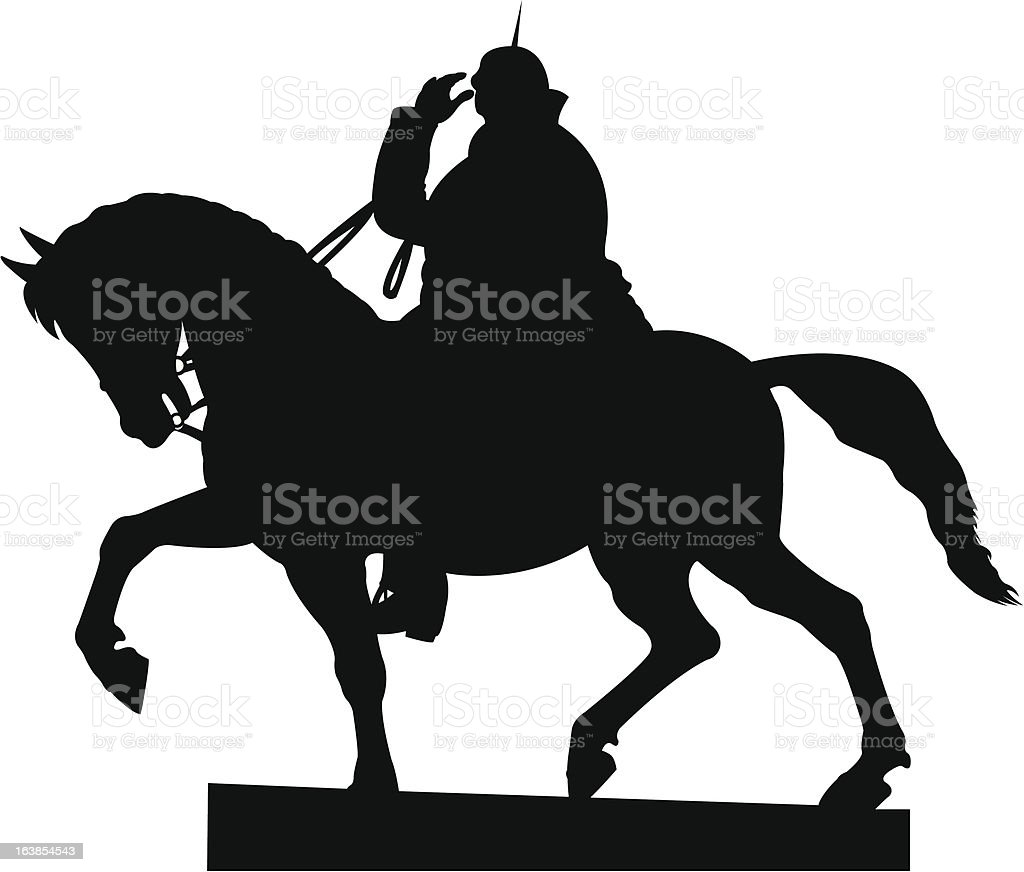 Cavalier statue royalty-free stock vector art
