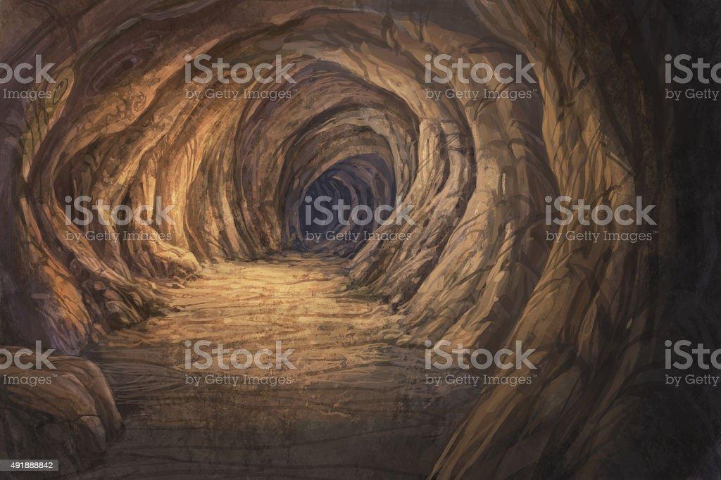 cave vector art illustration
