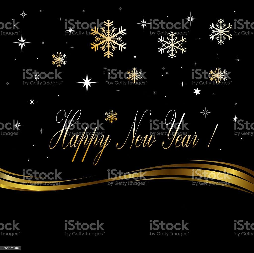 Celebrating the New Year vector art illustration