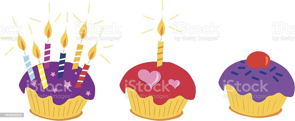 celebration cupcakes royalty-free stock vector art