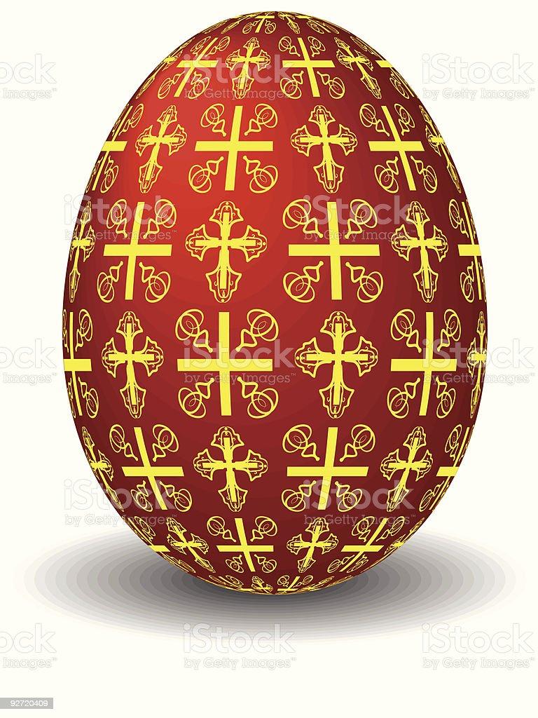 celebratory red egg royalty-free stock vector art