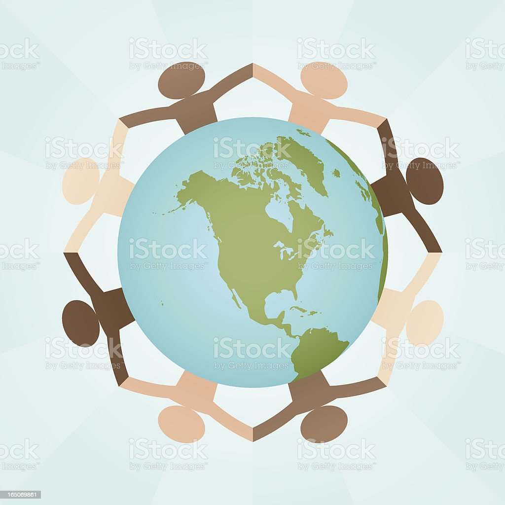 Celibrating Diversity : North America vector art illustration