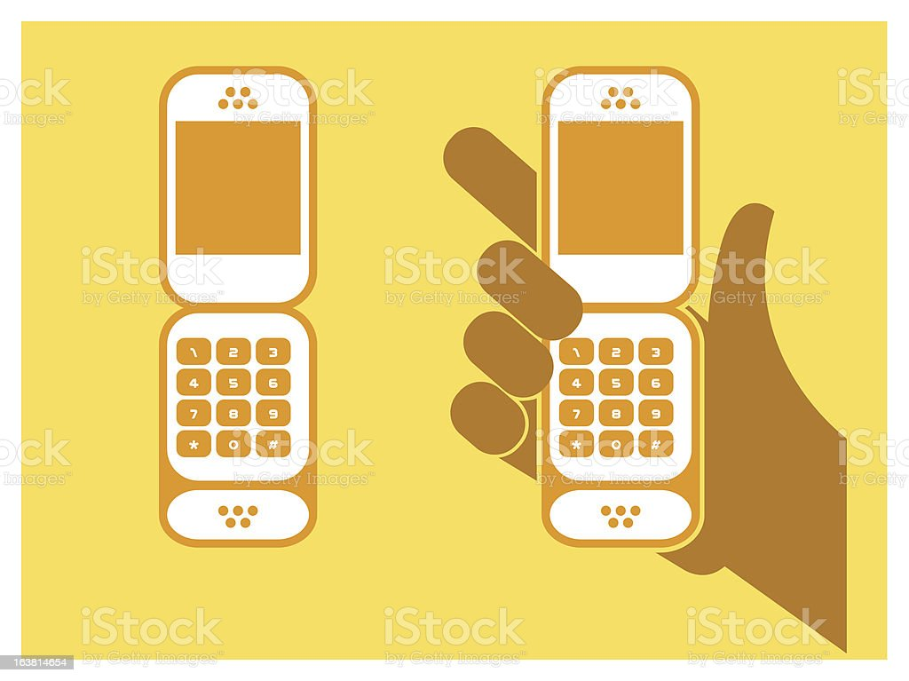 cell phone royalty-free stock vector art