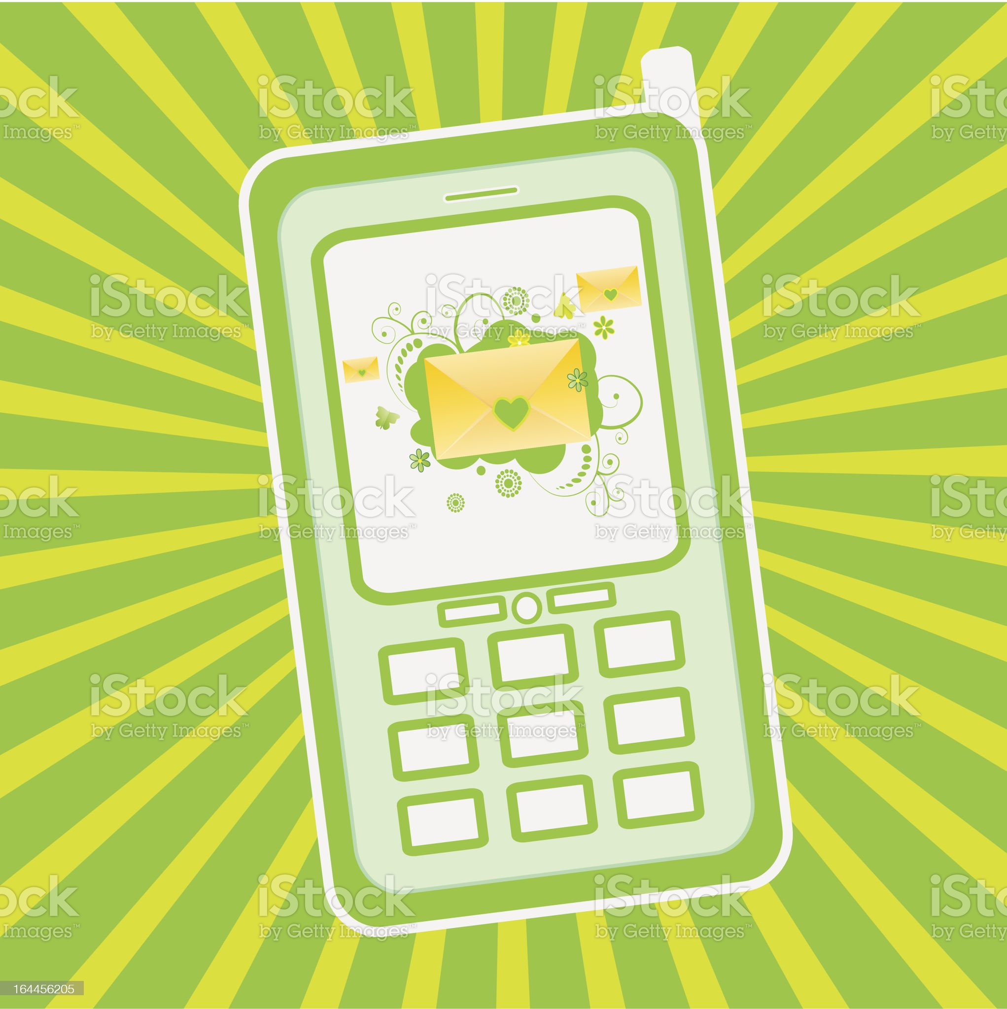Cellphone royalty-free stock vector art
