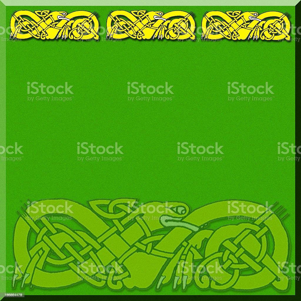 Celtic Border 2 vector art illustration