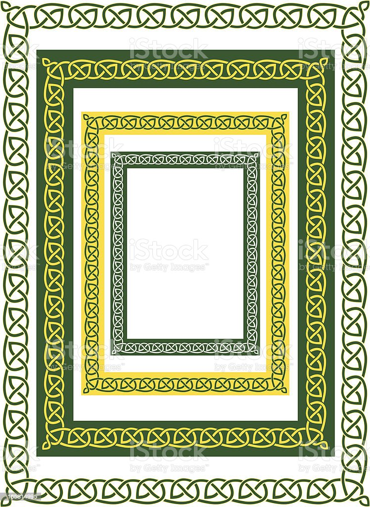 celtic border and variations royalty-free stock vector art