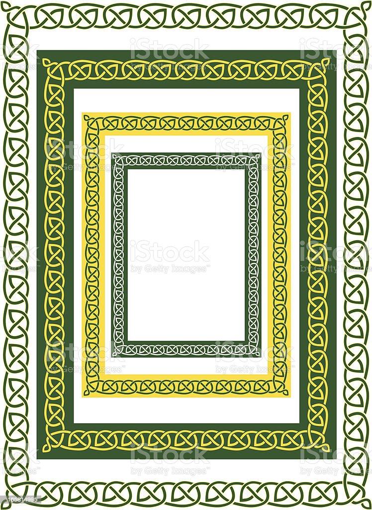 celtic border and variations vector art illustration