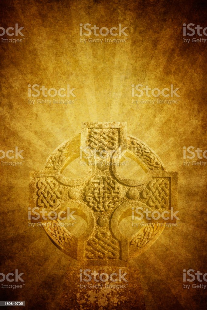 celtic cross on old paper royalty-free stock vector art