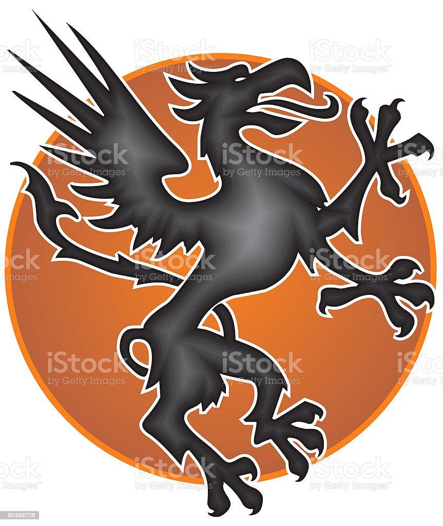 Celta dragon (buen logotipo idea - ilustración de arte vectorial