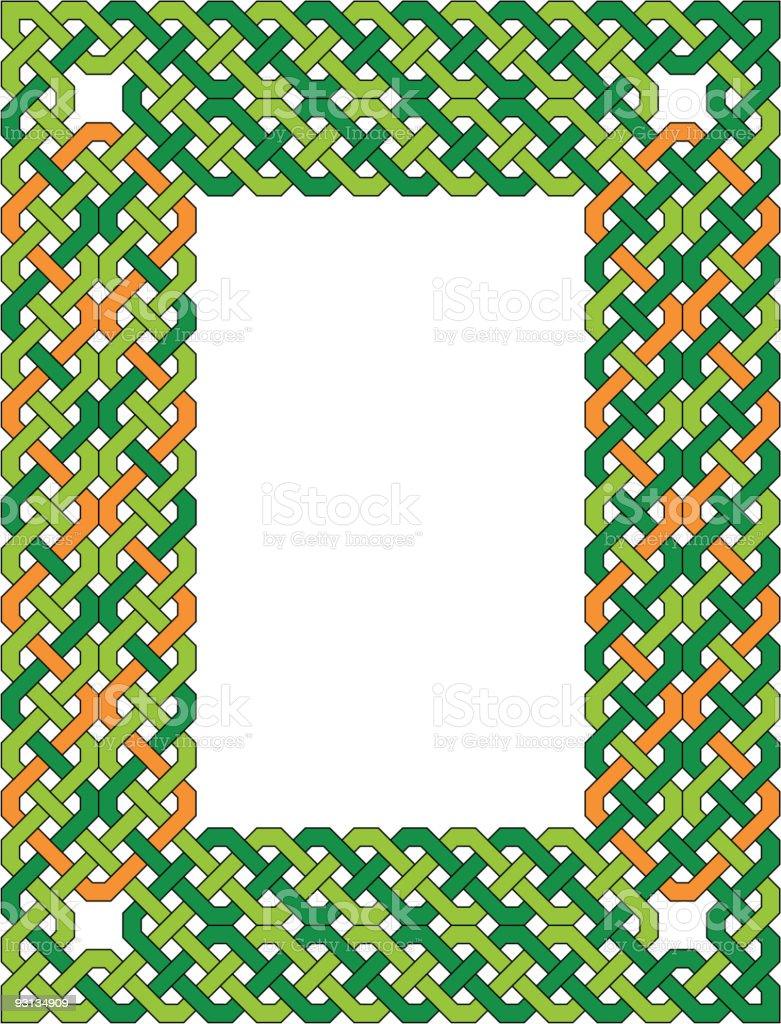 Celtic Knotwork Border royalty-free stock vector art