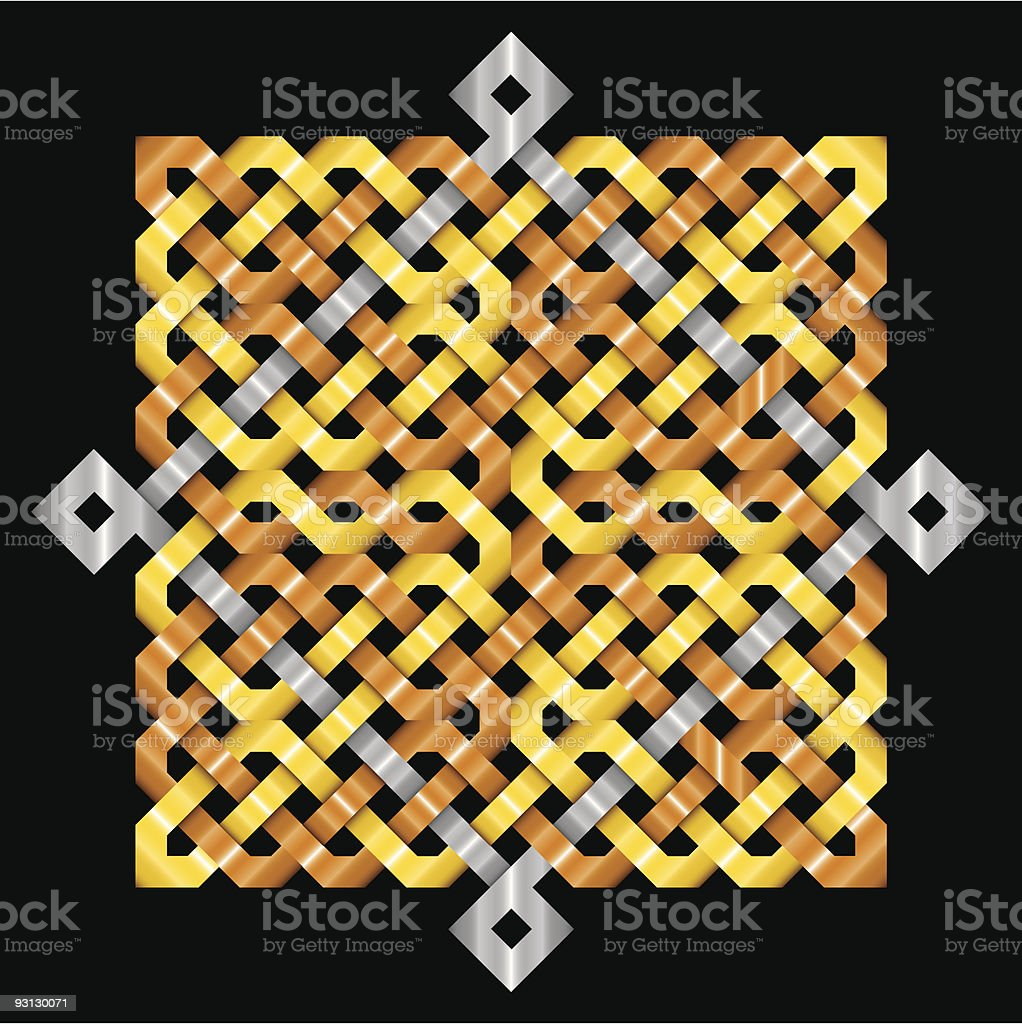 Celtic Knotwork Metallic royalty-free stock vector art