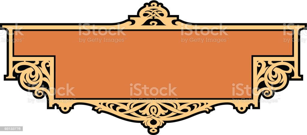 Celtic Panel / Label Design royalty-free stock vector art