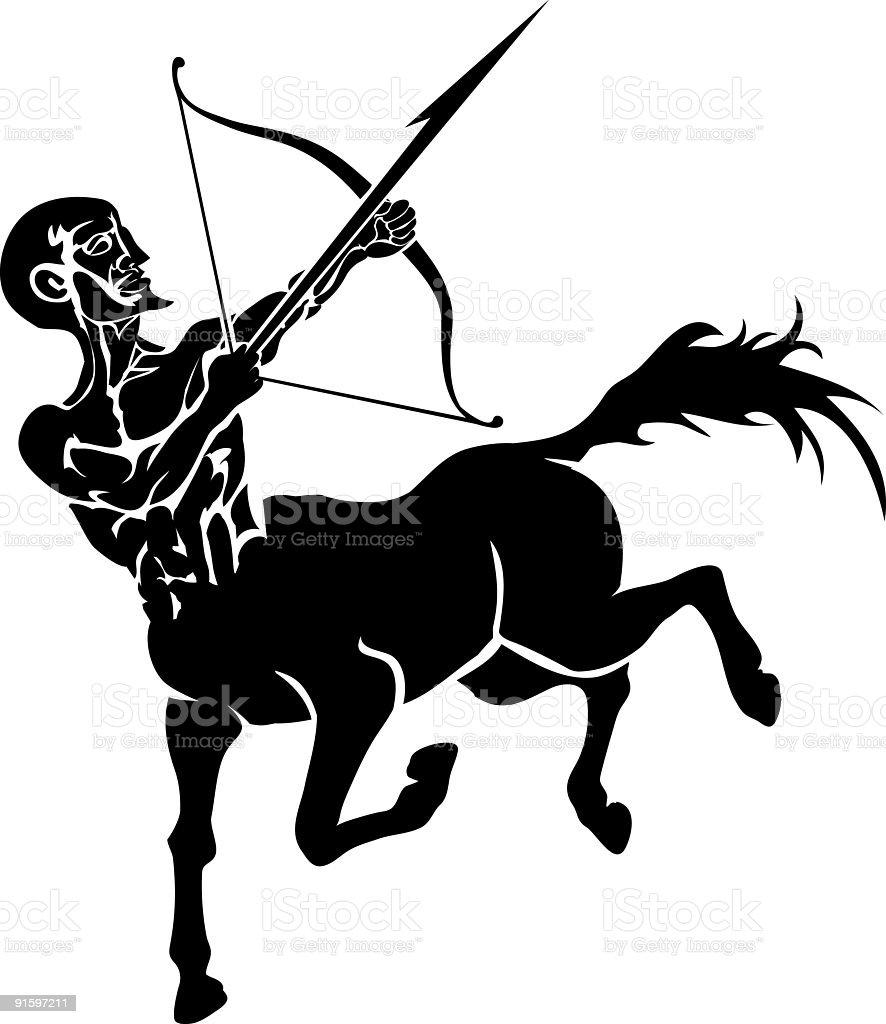 Centaur royalty-free stock vector art