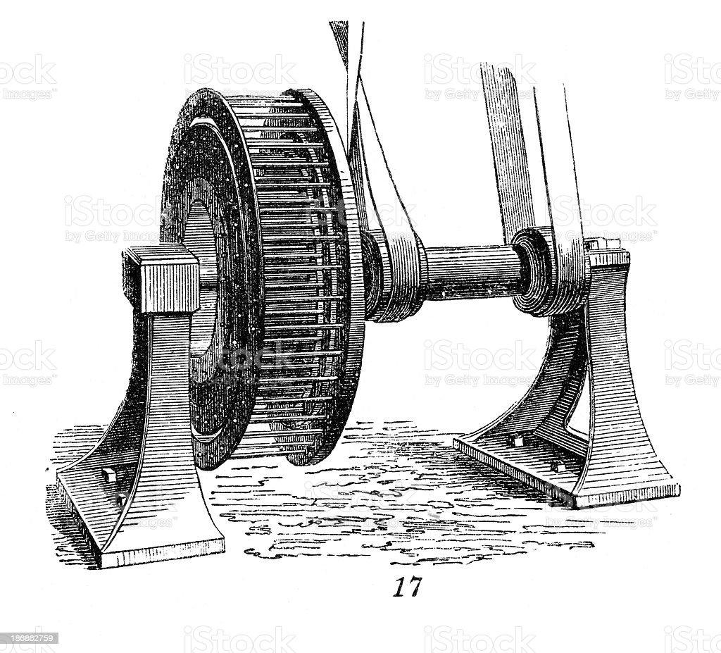 Centrifuge - Industrial Revolution Machinery vector art illustration