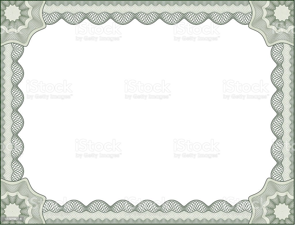 Certificate Border Letter Size royalty-free stock vector art