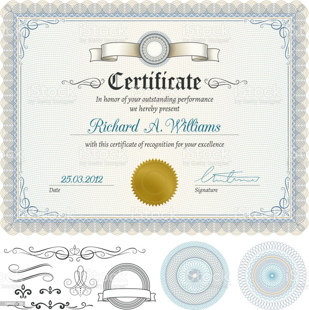 Certificate royalty-free stock vector art