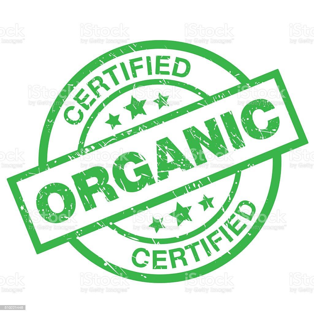 Certified Organic Label vector art illustration