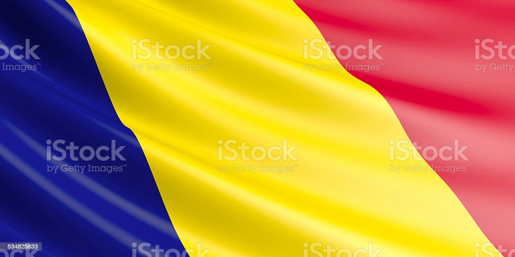 Chad flag. royalty-free stock vector art
