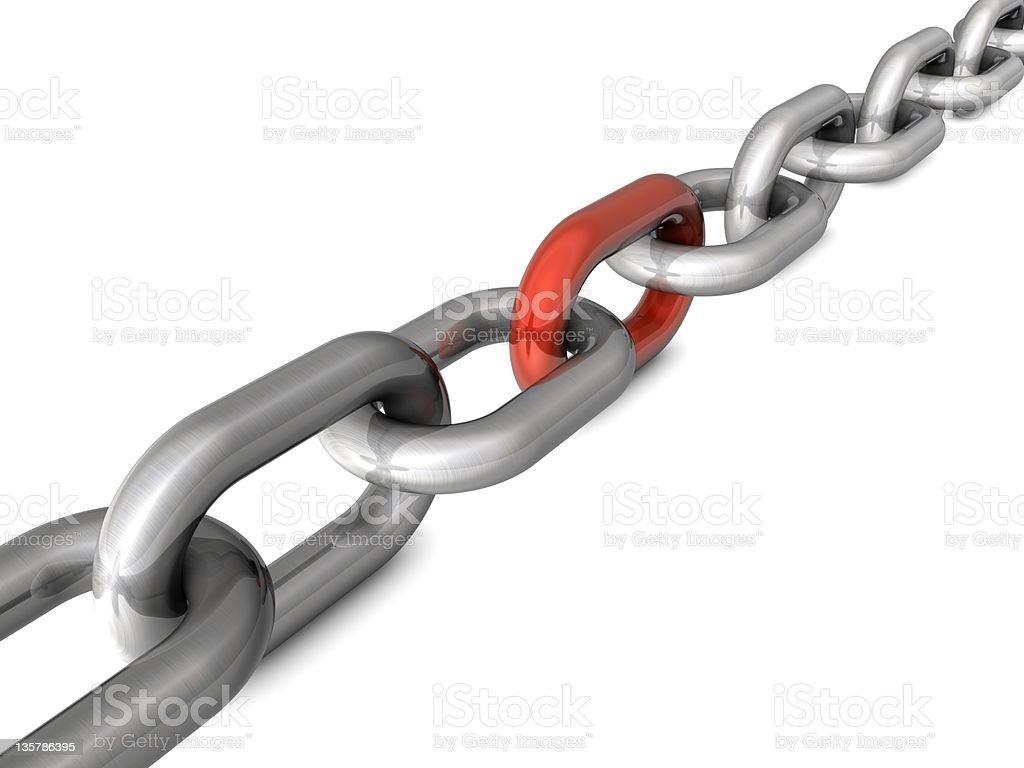 Chain vector art illustration