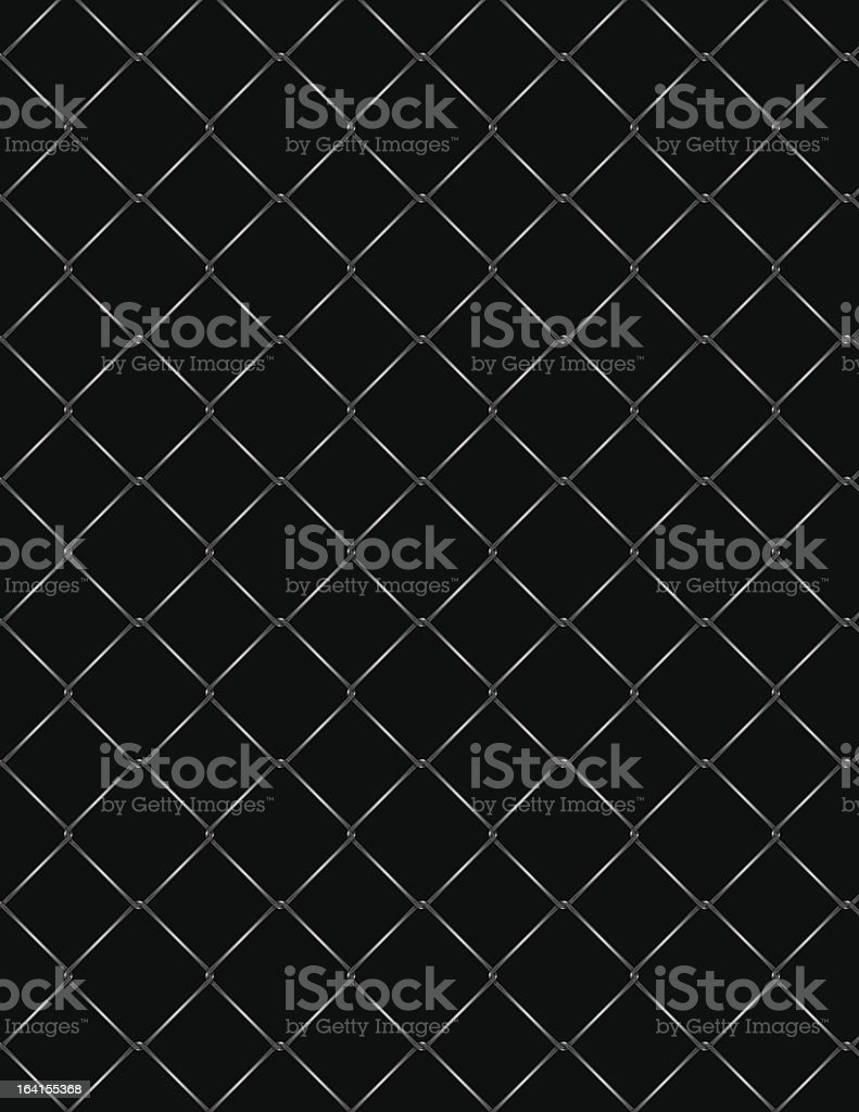 Chainlink Fence royalty-free stock vector art