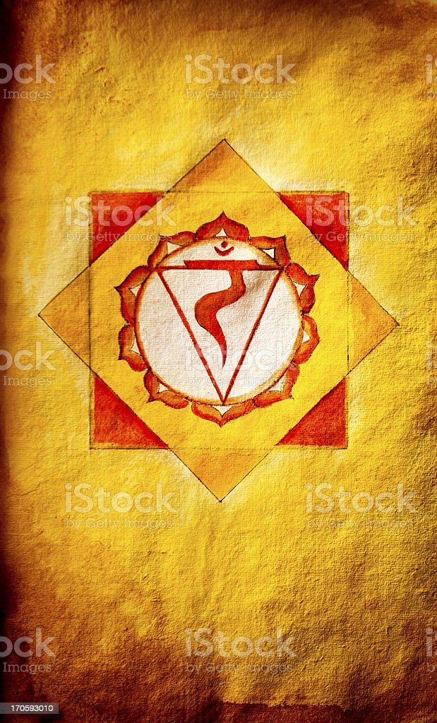 Chakra Three: Solar Plexus (Manipura) royalty-free stock vector art