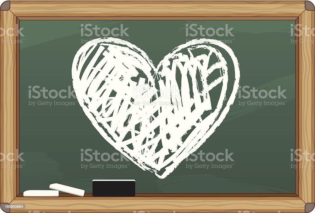 Chalkboard Love royalty-free stock vector art