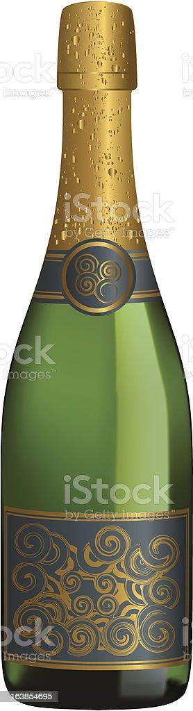 champagne bottle royalty-free stock vector art