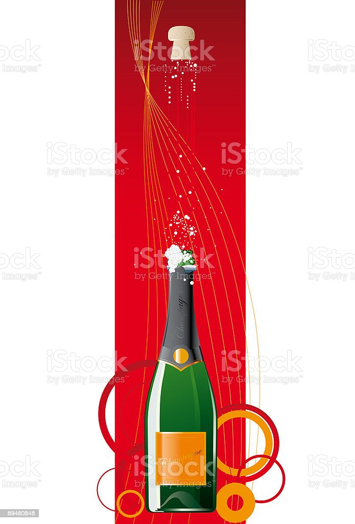 champagne bottle #1 royalty-free stock vector art