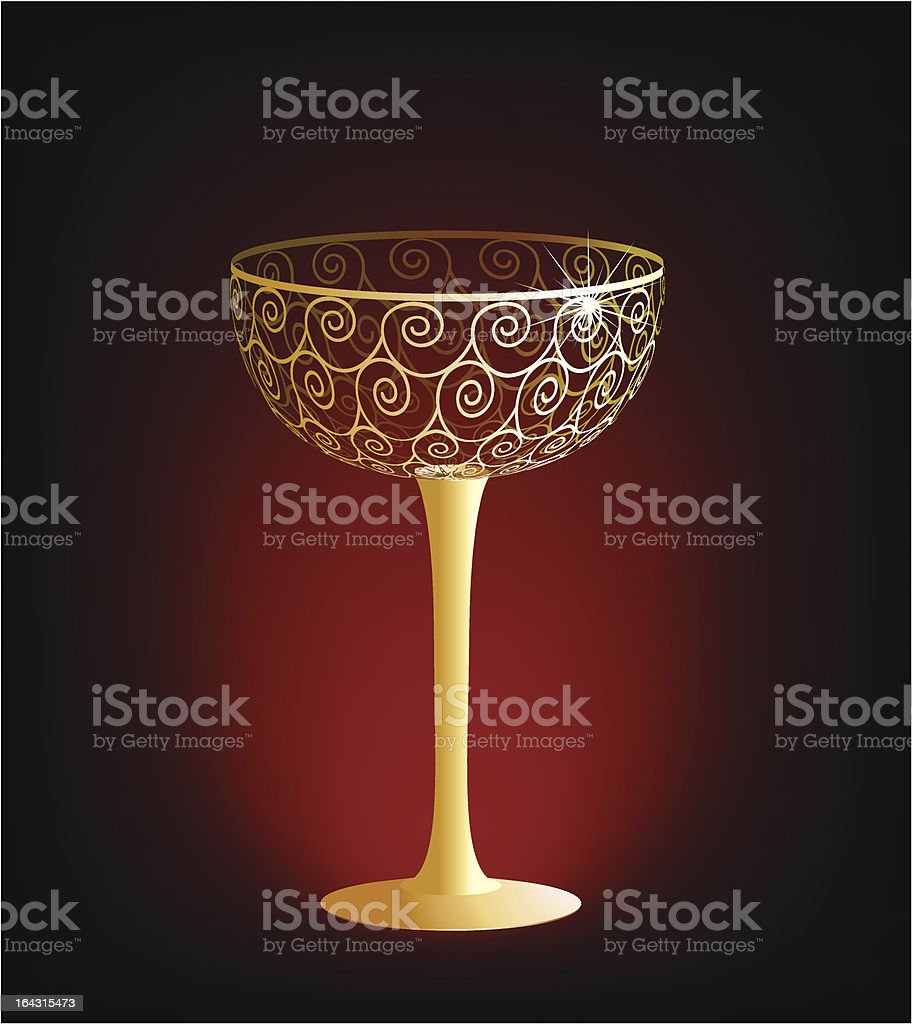 Champagne glass royalty-free stock vector art