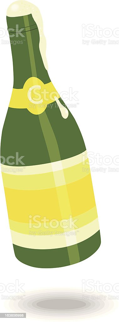 Champagnerbottle royalty-free stock vector art
