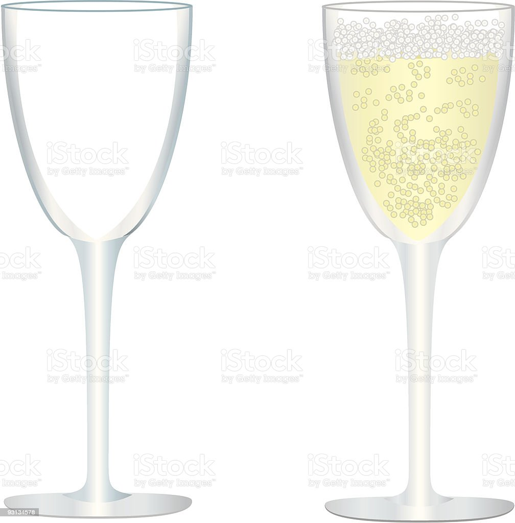 Champaign Glass Vectors royalty-free stock vector art
