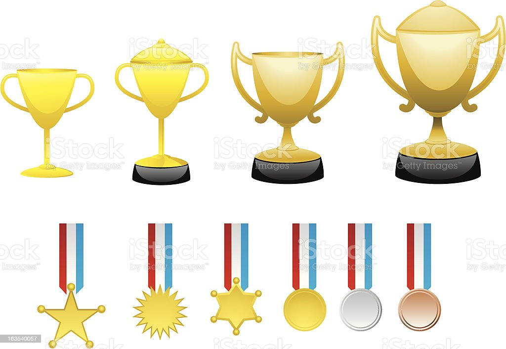 Champion trophy royalty-free stock vector art
