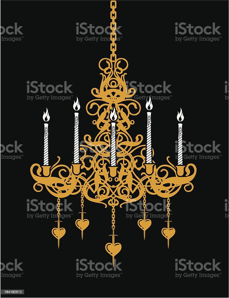 Chandelier royalty-free stock vector art