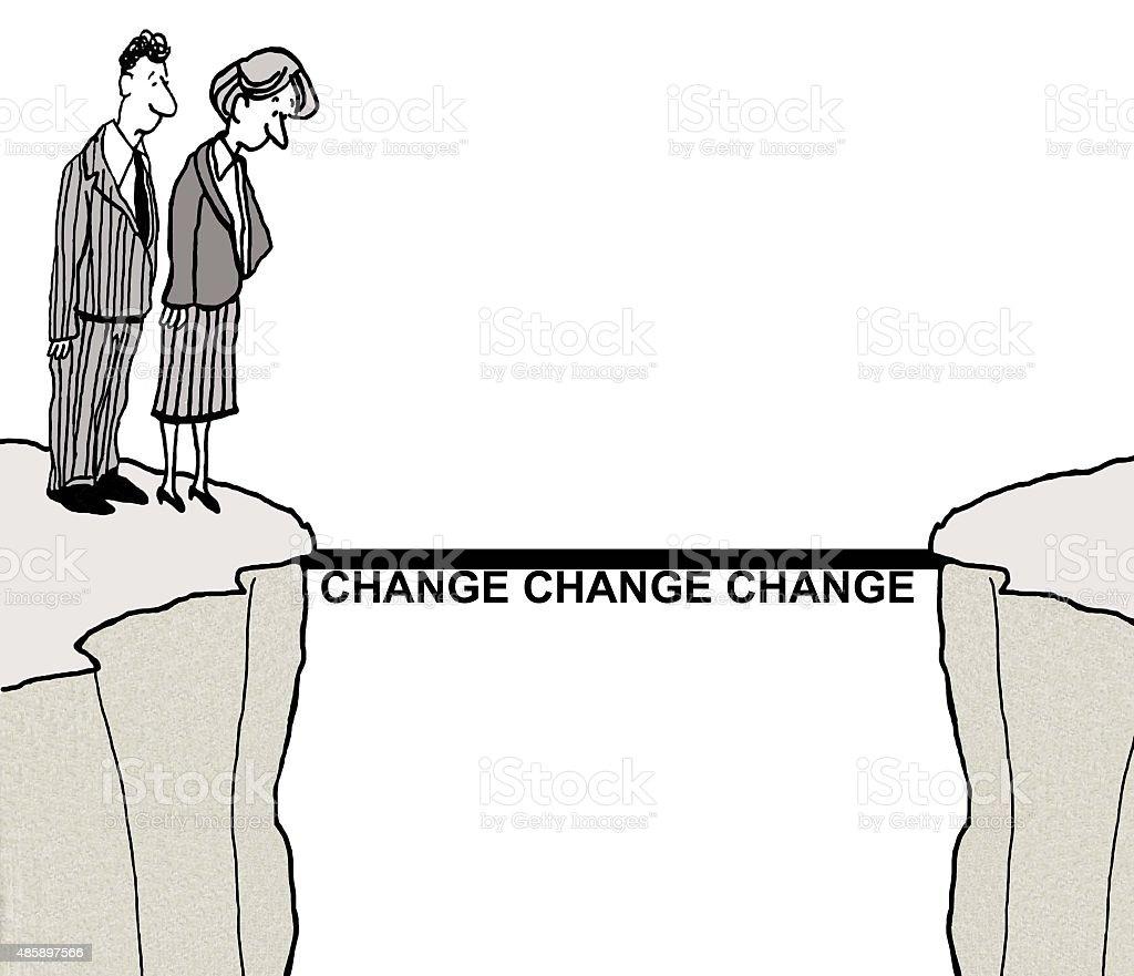 Change Management vector art illustration