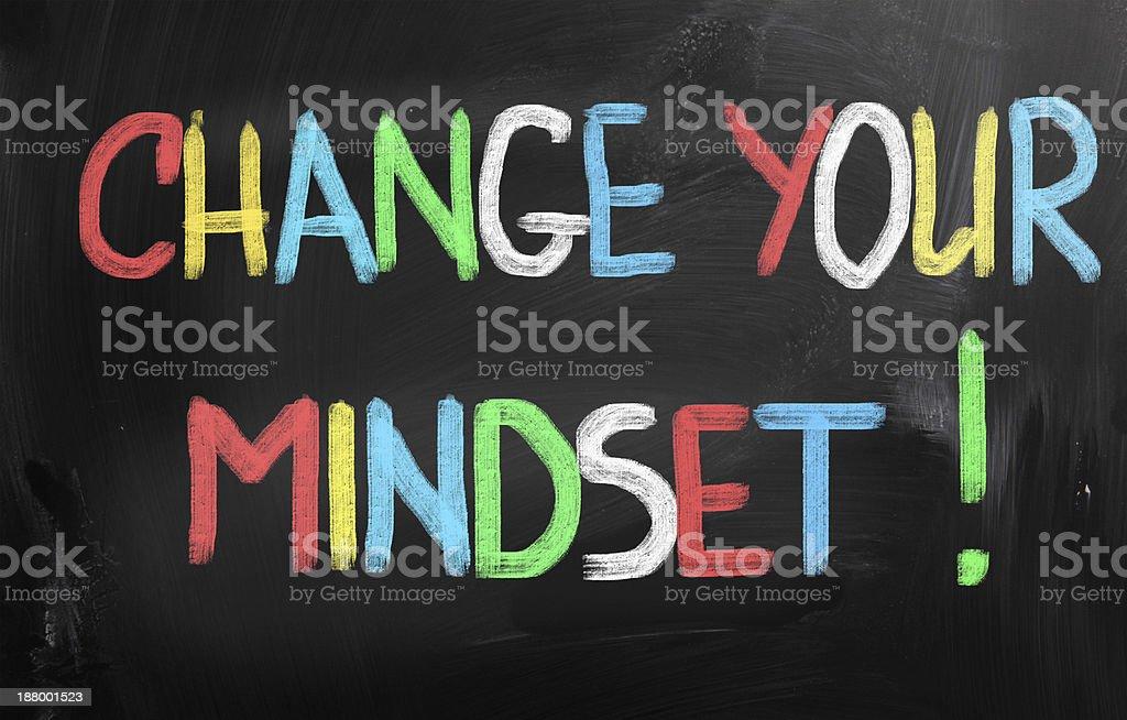 Change Your Mindset Concept vector art illustration