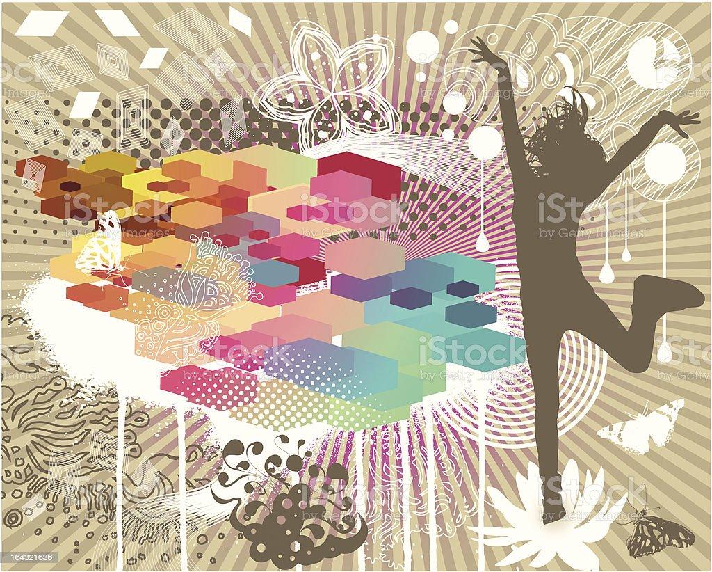 Chaos design royalty-free stock vector art