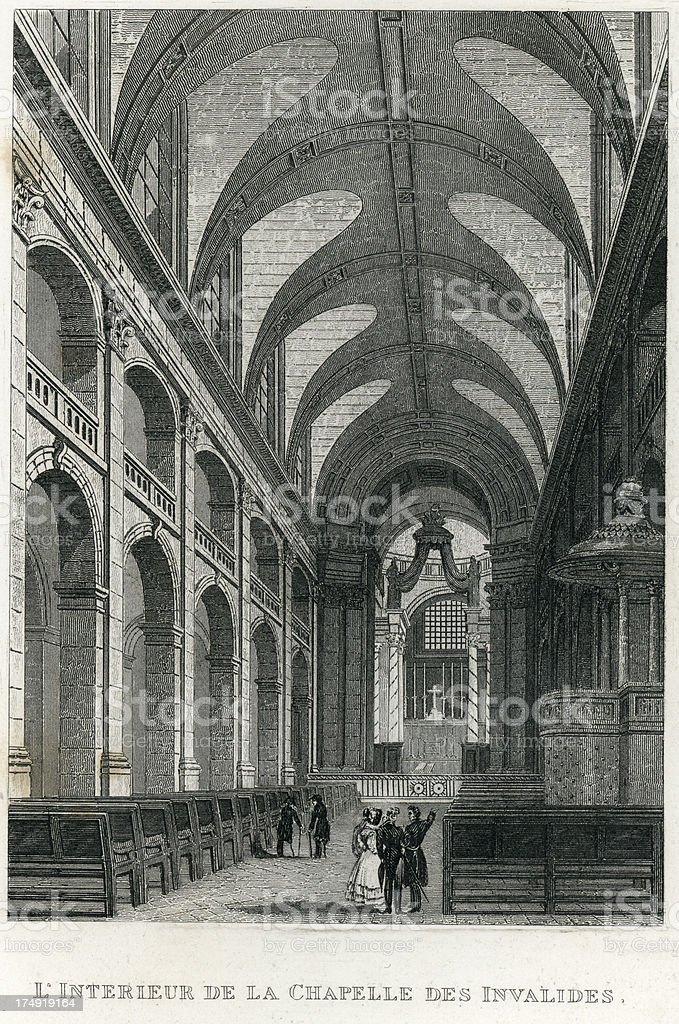 Chapelle Des Invalides, Paris, France royalty-free stock vector art