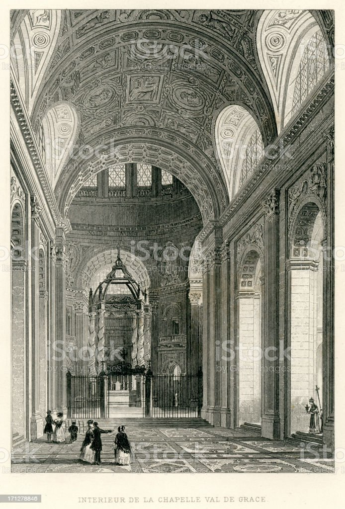 Chapelle val de grace royalty-free stock vector art