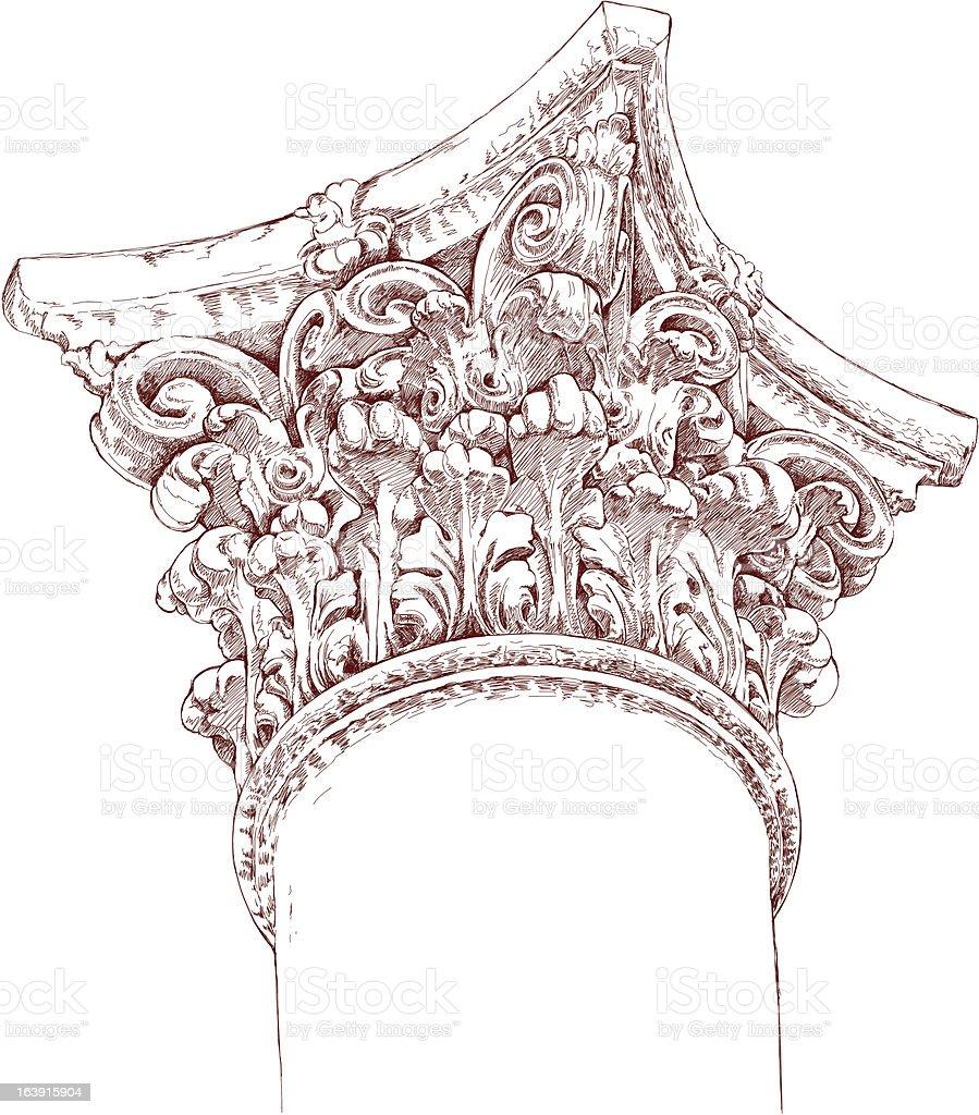 chapiter sketch royalty-free stock vector art