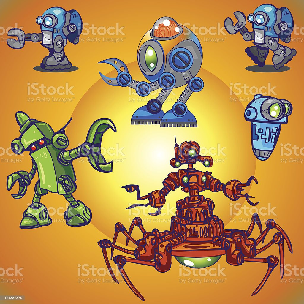 Character Design Collection 010: Robots royalty-free stock vector art