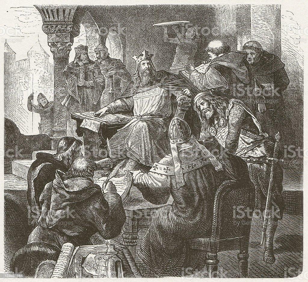 Charlemagne vector art illustration